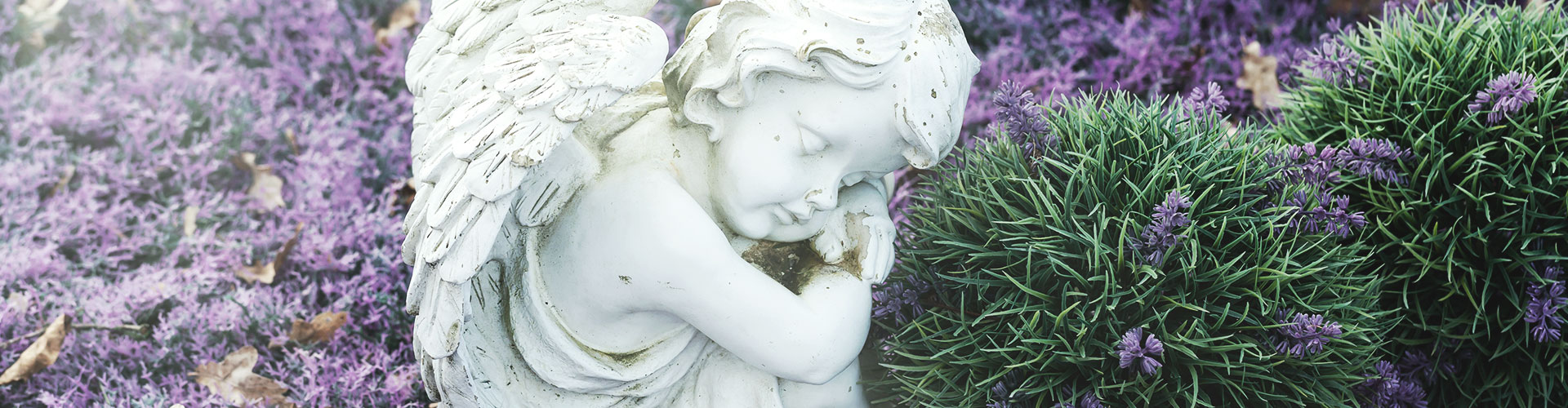 Eine Engelsstatue auf einem Friedhof