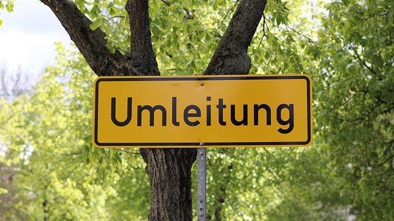 Sperrung in Dachsenhausen