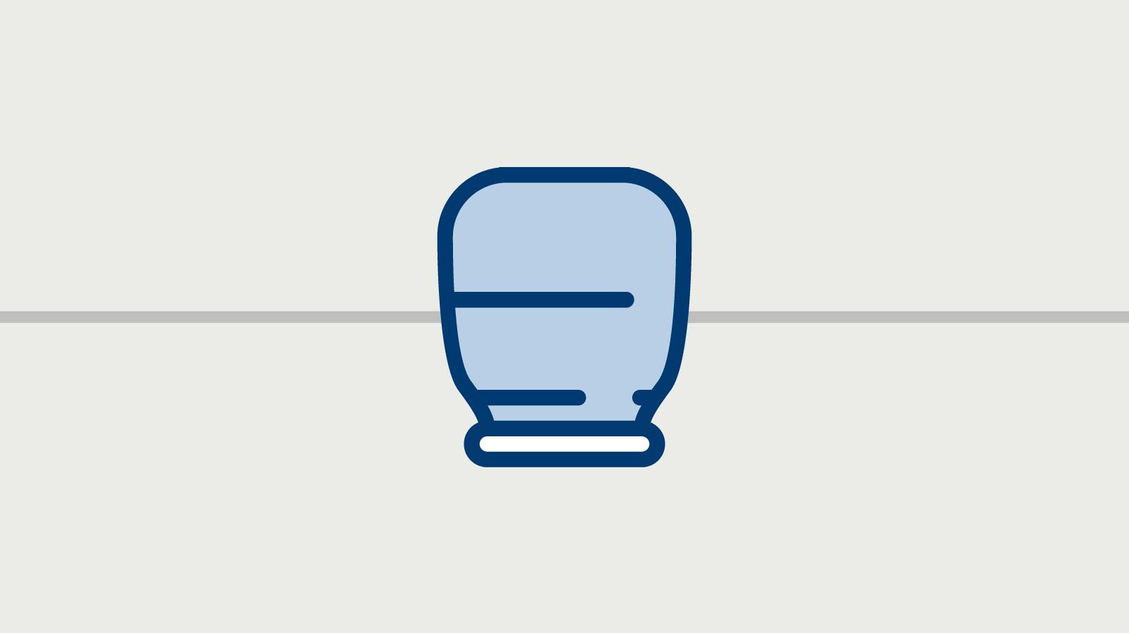Ein Icon zeigt eine Aschekapsel