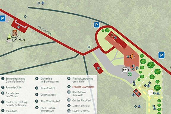 Karte des Friedhofs Dachsenhausen